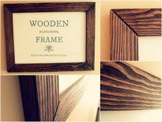 Oldschool wooden frame