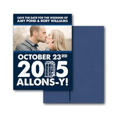 Doctor who wedding invitations offbeat bride weddings and wedding doctor who wedding invitation doctor who save the date magnet stopboris Image collections