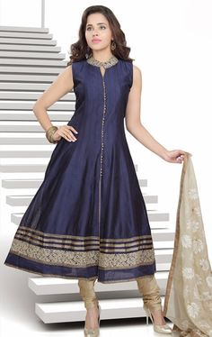 Marvelous Navy Blue Color Salwar Kameez