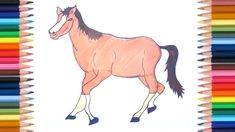 How to Draw a Horse for Beginners Step by Step Easy #horse #drawing #kids #children #videotutorial #kidsactivities #kidsart