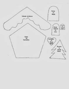 CASA - Gata Bacana: Christmas Cottage template with step by step video Felt Christmas Decorations, Christmas Ornament Crafts, Christmas Sewing, Felt Crafts, Christmas Crafts, Christmas Houses, Gingerbread House Patterns, Gingerbread Crafts, Felt Ornaments Patterns