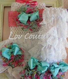 Spring Set Baby Bloomers Leg Warmers and Matching by LovCouture, $29.95