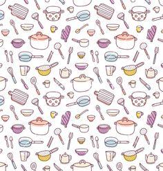 cooking kitchen utensils handdrawn photoshop brushes digital