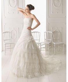 vestidos de novia strapless de organza con chaqueta