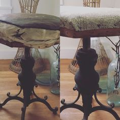 Before & after unique music stool.