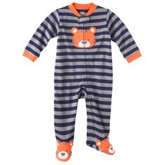 Just One You® made by Carter's Newborn Boys' Interlock Sleep N' Play - Orange/Gray NB - Designed by Lillian Gottwald!