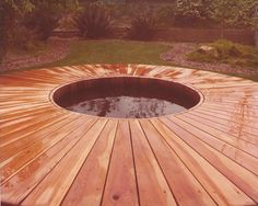 A Gordon and Grant vintage hot tub with an amazing deck design! http://www.gordonandgrant.com/