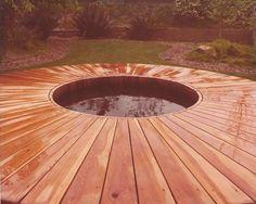 A Gordon and Grant vintage hot tub with an amazing deck design! http://www.gordonandgrant.com/