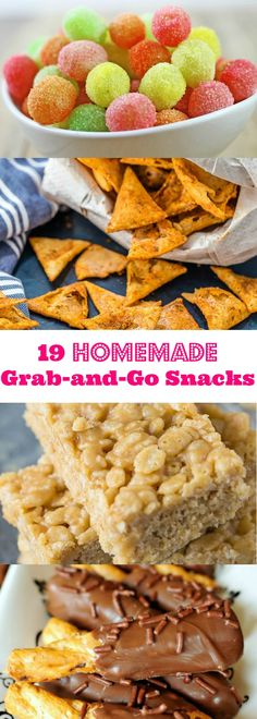 19 Homemade Gran-and-Go Snack Ideas! Easy and yummy recipes to keep on hand for your next snack attack!