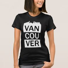 Women's t-shirt with Vancouver lettering - white gifts elegant diy gift ideas