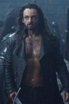 Micheal Sheen as he was meant to be. Dirty and bare chested.