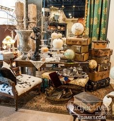 Double Shop Shots for October 2 - Adjectives Market - Sumptuous display by French Nest in Winter Park