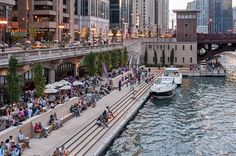Chicago Riverwalk by Sasaki Associates