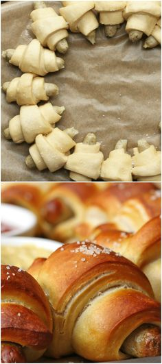 Sausage Pretzel Party Ring