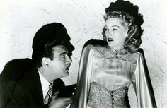 """""""The Frozen Ghost"""" (1945) - Maura Daniel (Evelyn Ankers) is hypnotized by Alex 'Gregor the Great' Gregor (Lon Chaney, Jr.)"""