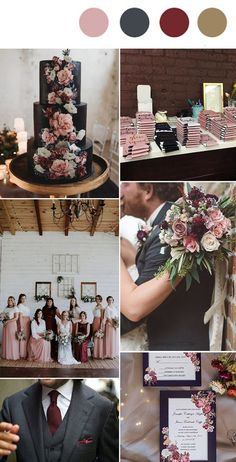 moody dusty rose, burgundy and dark grey fall and winter wedding colors hochzeit Top 10 Wedding Color Trends We Expect to See in 2019 & 2020 (parte-one) Trendy Wedding, Perfect Wedding, Dream Wedding, Wedding Day, Diy Wedding, Spring Wedding, Casual Wedding, Autumn Wedding, Luxury Wedding
