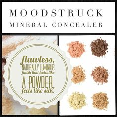 Younique Moodstruck Mineral Concealer Loose powder that gives a flawless naturally luminous finish. Looks like powder, feels like silk. Shop at - Www.youniqueproducts.com/kirstyjash https://m.facebook.com/embraceyouryouniqueness1/