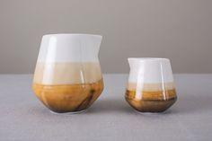 Studio Line - Desert Landscape - Layered reactive glazing on fine bone china jugs