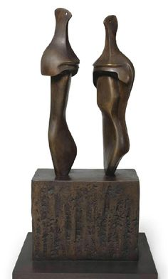 Henry Moore, Two Three-Quarter Figures on Base, 1965, Osborne Samuel