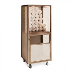 Towel Cabinet With Wheels CTS Towel Storage Cabinet with sling and Ecowood wide, deep, high Pavilion Furniture, Counter Stools With Backs, Bench With Back, Towel Storage, Trash Bins, Dining Arm Chair, Bar Chairs, Shelving, Indoor