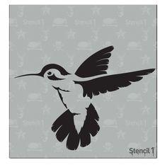 Stencil 1 - 6x6 Stencil - Hummingbird