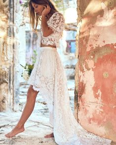 Barefoot and lace dreams 🤍🤍🤍 Lace Wedding, Wedding Dresses, Barefoot, Lace Skirt, Southern Charm, Skirts, Dreams, Clothes, Tops