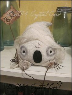 Whimsical ghost primitive Halloween odd home decor by emsprims, $22.00