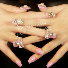 Aliexpress.com : Buy Tender pink false nail , sweetheart mm , gentlewomen , on Jessie's shop. $12.29 3d Nails, Jessie, Diamond Earrings, Nail Designs, Nail Art, Shop, How To Make, Pink, Stuff To Buy
