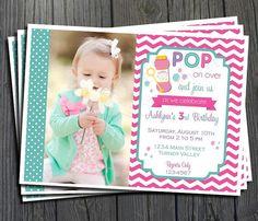 Bubble Party Birthday Invitation