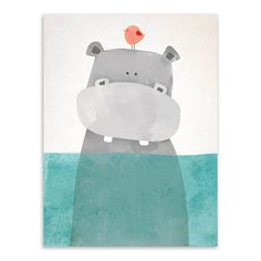 Online Shop Kawaii Cartoon Animals Polar Bear Hippo Poster Prints Nordic Kids Baby Room Wall Art Picture Home Decor Canvas Painting No Frame | Aliexpress Mobile