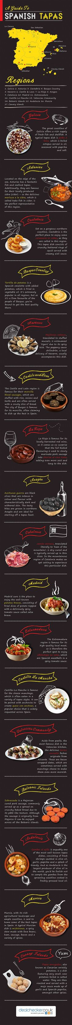 A Guide To Spanish Tapas #infographic #Food #SpanishTapas