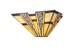 Chloe Lighting Tiffany Style Mission 1 Light Wall Sconce CH33226MI12-WS1 #ChloeLighting #StainedGlass