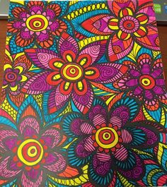 ColorIt Colorful Flowers Volume 1 Colorist Lisa Lifton Lubrano Adultcoloring Coloringforadults Adultcoloringpages