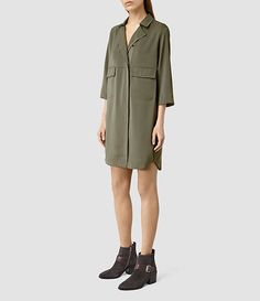 Womens Anita Dress (LightkhakiGreen) - product_image_alt_text_2
