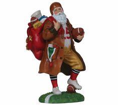 Lenox Santa Football Touchdown 2015 Figurine NEW IN BOX