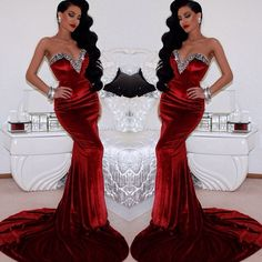 Stunning red gown