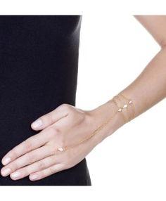 pulseiras de dedo modernas semi joias