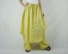 Convertible Skirt/Pants Funky Steampunk Charcoal by BeyondCloset