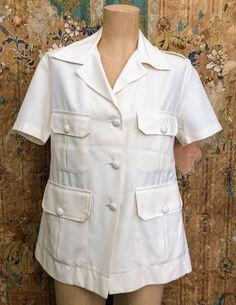 Ladies Cream Safari Suit Top  | eBay Vintage Clothing, Vintage Outfits, Safari, Chef Jackets, Online Price, Suits, Cream, Best Deals, Lady