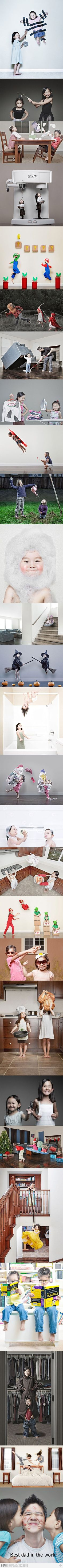 What cute ideas - this Dad is so creative and sweet with his girls :)