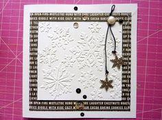 Tutorial - Schlichte Weihnachtskarten geprägt und gestickt