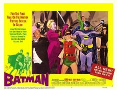 Batman, often promoted as Batman: The Movie, is a 1966 film based on the Batman television series, and the first full-length theatrical adaptation of the DC Comics Batman. Released by Century Fox Batman The Movie 1966, Batman Poster, Batman 1966, Batman And Superman, Batman Robin, Adam West Batman, Burt Ward, Joker, Original Movie Posters