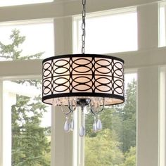 Warehouse of Tiffany Olga 4-Light Chrome Crystal Ceiling Chandelier-RL4825 - The Home Depot