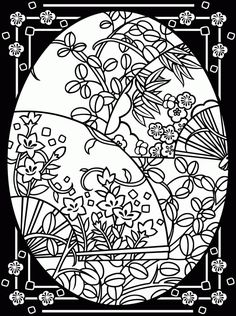 Beautiful Easter Coloring Pages for Adults