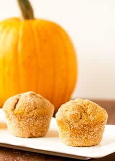 Pumpkin Doughnut Muffins - Brown Eyed Baker