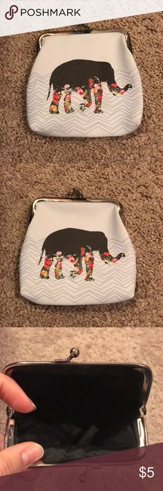 Elephant change purse New, never used, great condition. A great gift for someone for the holidays coming up or even for yourself! Bags Clutches & Wristlets