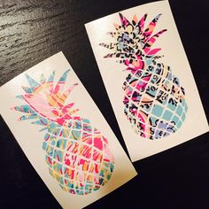 Lilly Pineapple Decal same day shipping for free! blushandgolddesign.webs.com