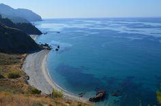 Uitzicht, Zicht vanaf het Alberquillas strand, Nerja