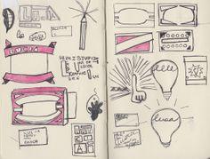 Sketchbook. Self Branding, Bullet Journal, Pork