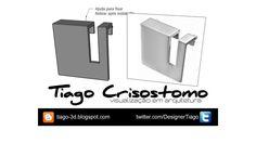 Puxador linha Quadra M1007-50 - ALTERO DESIGN - 3D Warehouse